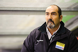 10.01.2012, Eisstadion Liebenau, Graz, AUT, EBEL, Graz 99ers vs EHC Linz, im Bild Mario Richer, (99ers, Head Coach) // during the ice hockey game between Graz 99ers and EHC Linz at the Eisstadion Liebenau, Graz, Austria, 2012/01/10, EXPA Pictures © 2011, PhotoCredit: EXPA/ S. Zangrando