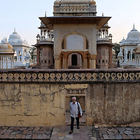 The Gaitore is the holy creation site for the kings of Jaipur.<br /> Photo by Shmuel Thaler <br /> shmuel_thaler@yahoo.com www.shmuelthaler.com