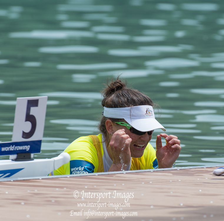 Aiguebelette, FRANCE.  AUS W2X. Sally KEYHO. A  Finals at the  .  13:29:38  Sunday  22/06/2014. [Mandatory Credit; Peter Spurrier/Intersport-images]