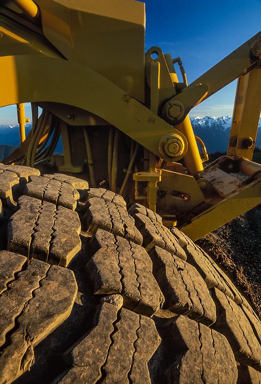 Maintenance tractor, Hurricane Ridge, Olympic National Park, USA