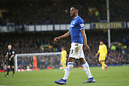 Everton defender Yerry Mina (13) during the Premier League match between Everton and Chelsea at Goodison Park, Liverpool, England on 17 March 2019.