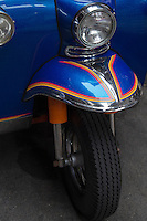 The samlor, meaning three-wheeler in Thailand and are usually referred to as a tuk-tuk mimicking the sound of a noisy two-cycle engine.  However, the tuk-tuk is starting evolve from the old smoke-spewing vehicle of the past with many fitted with low emission engines, or refitted with LPG conversions.  There are no meters, and trip costs are negotiated in advance.