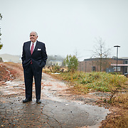 INDIAN LAND, SC - DECEMBER 28: Charles Fonville Sr., a businessman from Charlotte, NC, poses for a portrait on a parcel of land by the corner of Charlotte Highway and Collins Road in Indian Land, SC on Friday December 28, 2018.   Fonville, who owns the property,  entered into a lease agreement with incoming White House Chief of Staff, Mick Mulvaney,  but says he hasn't recieved suitable payments on the property.  (Photo by Logan Cyrus for The Washington Post)