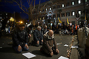 People gather in front of the American embassy in Rome to protest against Donald Trump's travel ban. Rome 2 February 2017. Christian Mantuano / OneShot