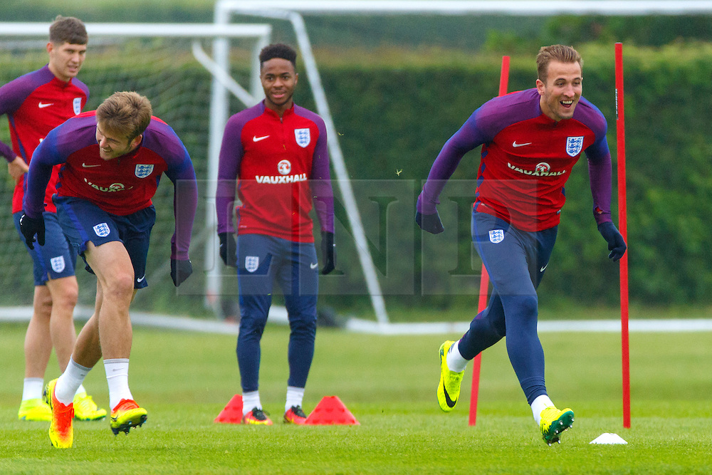 © Licensed to London News Pictures. 01/06/2016. London, UK. England's HARRY KANE training with England team at Watford Training Ground on Wednesday, 1 June 2016, ahead of the Euro 2016 in France. Photo credit: Tolga Akmen/LNP