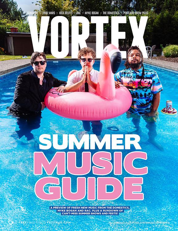 Vortex Music Magazine issue 13, featuring Myke Bogan and The Domestics