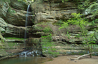 At 90 feet high, Wildcat Falls is the tallest waterfall in Starved Rock State Park. Starved Rock is located in North Central Illinois and contains 17 canyons, many of which have waterfalls. Each canyon flows into the Illinois River to the north.