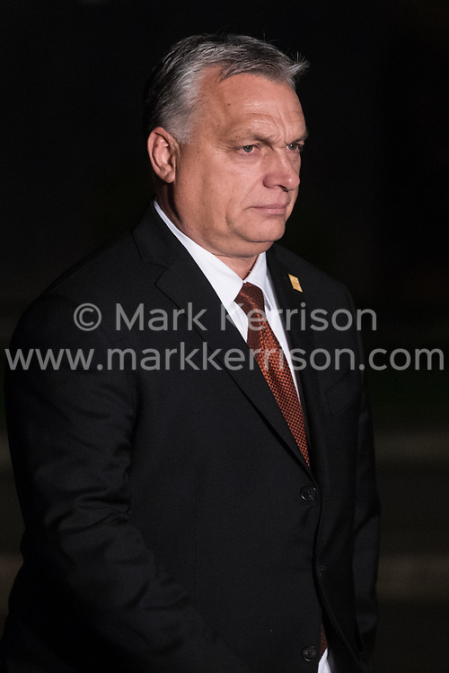 London, UK. 3 December, 2019. Viktor Orbán, Prime Minister of Hungary, leaves following a reception for NATO leaders at 10 Downing Street on the eve of the military alliance's 70th anniversary summit at a luxury hotel near Watford.