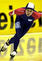 Skøyter - EM 2003 - Heerenveen Nederland<br /> 04.01.2003<br /> Hedvig Bjelkevik fra Norge<br /> Foto: Ronald Hoogendoorn, Digitalsport