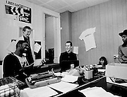 The London Beat in the office - 1981 photosessions with The Beat.