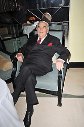 LORD WEIDENFELD at a party to celebrate the publiction of 'No Invitation Required' by Annabel Goldsmith, held at Claridge's, Brook Street, London on 11th November 2009.