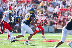 Sep 4, 2021; College Park, Maryland, USA; Maryland Terrapins quarterback Taulia Tagovailoa (3) drops back to pass during the first quarter against the West Virginia Mountaineers at Capital One Field at Maryland Stadium. Mandatory Credit: Ben Queen-USA TODAY Sports