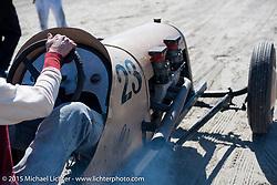 Dave Carter in his 1939 homebuilt Bobtail race car at the Race of Gentlemen. Wildwood, NJ, USA. October 11, 2015.  Photography ©2015 Michael Lichter.