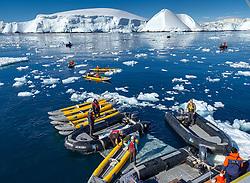 Kayaking Off NG Orion, Hidden Bay, Antarctica