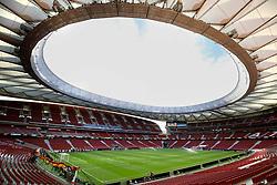 General view of the pitch ahead of the UEFA Europa League, Semi Final, Second Leg at Wanda Metropolitano, Madrid.