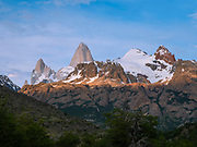 Sunrise view of El Chalten/Mount Fitz Roy, Los Glaciares National Park, Santa Cruz Province, Argentina