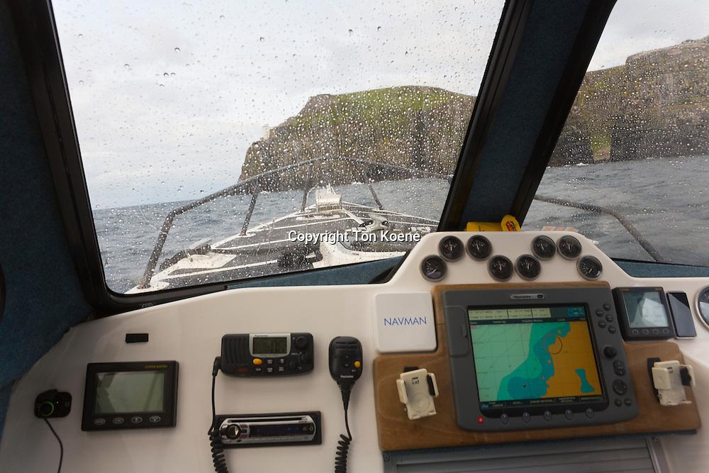 yacht at the Northern Ireland coast
