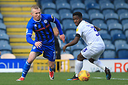 Stephen Dooley takes on his man during the EFL Sky Bet League 1 match between Rochdale and Coventry City at Spotland, Rochdale, England on 9 February 2019.