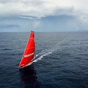 Leg 8 from Itajai to Newport, day 08 on board MAPFRE, drone shot. 29 April, 2018.