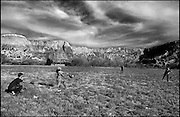 .Teenagers from Colorado on a bible retreat play baseball in an alfalfa field at Ghost Ranch for a story on artist Georgia O'Keeffe's legacy in New Mexico....