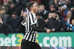January 19, 2019 - Newcastle, England, United Kingdom - Newcastle United's Fabian Schar celebrates after scoring his side's first goal during the Premier League match between Newcastle United and Cardiff City at St. James's Park, Newcastle on Saturday 19th January 2019. (Credit Image: © Mark Fletcher/NurPhoto via ZUMA Press)
