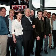 Persconferentie musical Titanic, complete cast