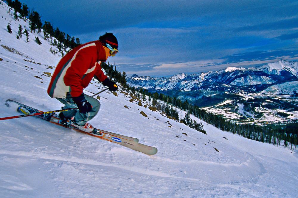 Snowboarding, Big Sky Resort, Montana USA