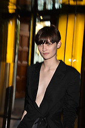 Lara Mullen at the Balenciaga Shaping Fashion VIP Preview, The V&A Museum, London England. 24 May 2017.<br /> Photo by Dominic O'Neill/SilverHub 0203 174 1069 sales@silverhubmedia.com