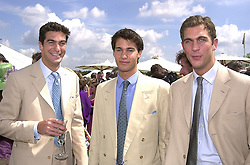 Left to right, brothers EDWARD VAN CUTSEM, WILLIAM VAN CUTSEM and HUGH VAN CUTSEM friends of Prince William, at a polo match in Berkshire on 30th July 2000.OGN 152