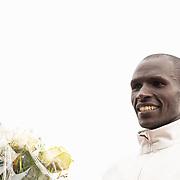20-10-2019: Atletiek: TCS Amsterdam Marathon: Amsterdam,  finish Olympische Stadion, Vincent Kipchumba