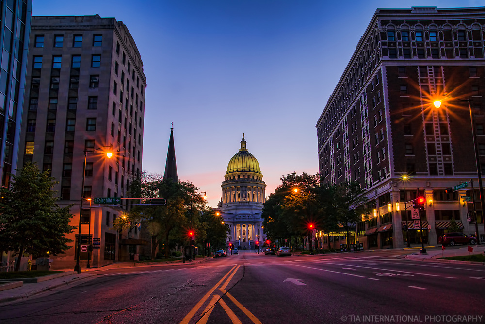 Washington Avenue & Fairchild Street, Downtown Madison