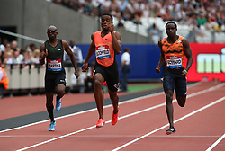 July 22, 2018 - London, United Kingdom - Akeem Bloomfield  of USA  compete in  the 200m Menrace.during the Muller Anniversary Games IAAF Diamond League Day Two at The London Stadium on July 22, 2018 in London, England. (Credit Image: © Action Foto Sport/NurPhoto via ZUMA Press)