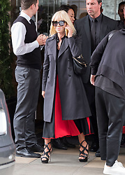 Donatella Versace leaves her London hotel ahead of LFW show. 17 Sep 2017 Pictured: Donatella Versace. Photo credit: MEGA TheMegaAgency.com +1 888 505 6342