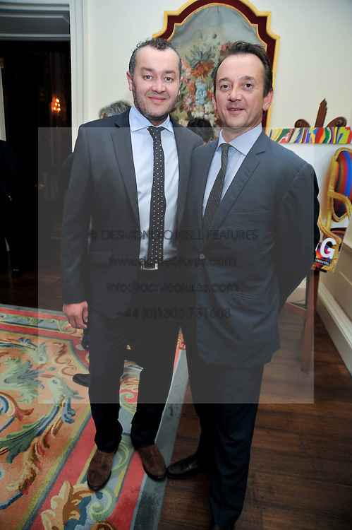 Left to right, SEBASTIEN BARBEREAU and ROB VAN HELDEN  at a party to celebrate the publication of Gosling - Classic Design for Contemporary Interiors by Tim Gosling held at William Kent House, The Ritz Hotel, London on 1st October 2009.