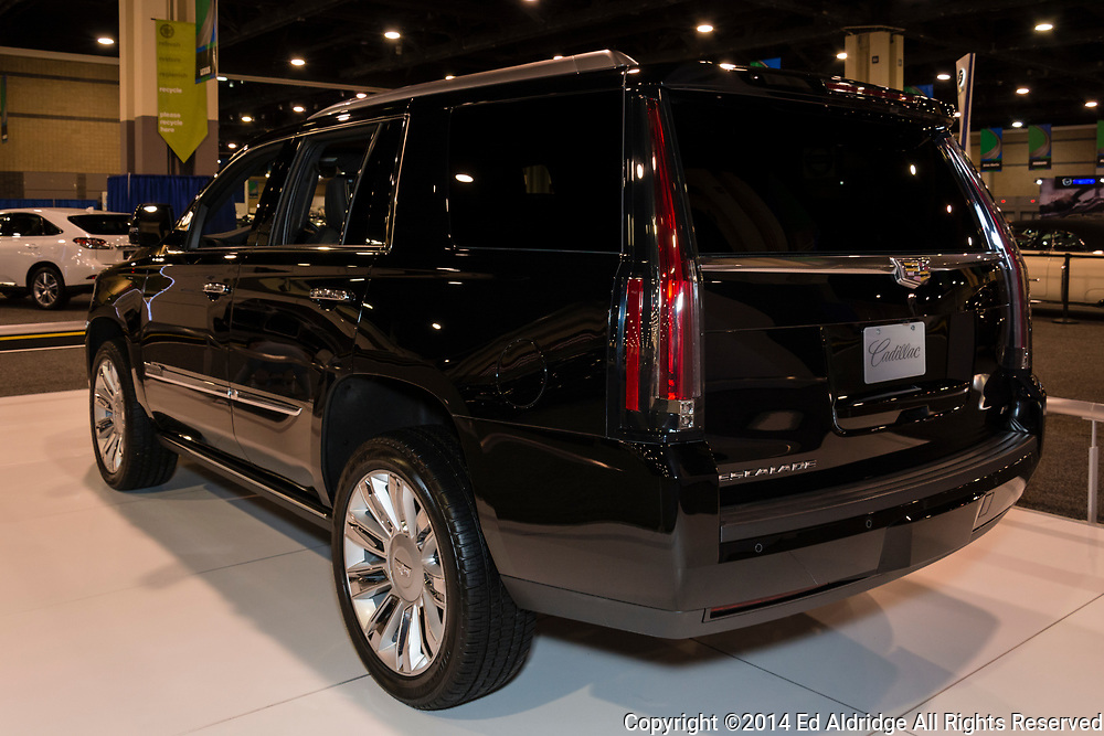 CHARLOTTE, NORTH CAROLINA - NOVEMBER 20, 2014: Cadillac Escalade on display during the 2014 Charlotte International Auto Show at the Charlotte Convention Center.