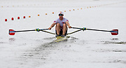 Poznan, POLAND, 21st June 2019, Friday, Morning Heats, NOR M1X, Kjetil  BORCH,  FISA World Rowing Cup II, Malta Lake Course, © Peter SPURRIER/Intersport Images,<br /> <br /> 12:09:04