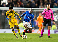 Football - 2019 / 2020 UEFA Europa League - Group G: Rangers vs. Porto<br /> <br /> Luis Diaz of FC Porto vies with Glen Kamara of Rangers, at Ibrox.<br /> <br /> COLORSPORT/BRUCE WHITE