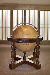 Large floor globe Antique with wooden sculpted four post stand