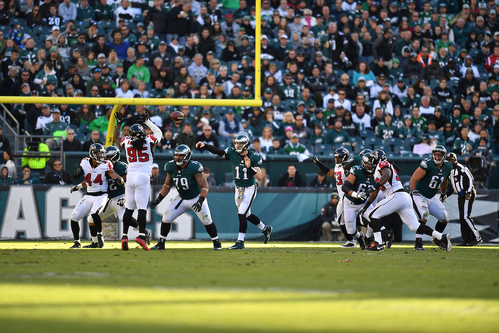 The Philadelphia Eagles defeated the Atlanta Falcons 24-15 at Lincoln Financial Field on November 13, 2016 in Philadelphia, Pennsylvania.  (Photo by Drew Hallowell/Philadelphia Eagles)
