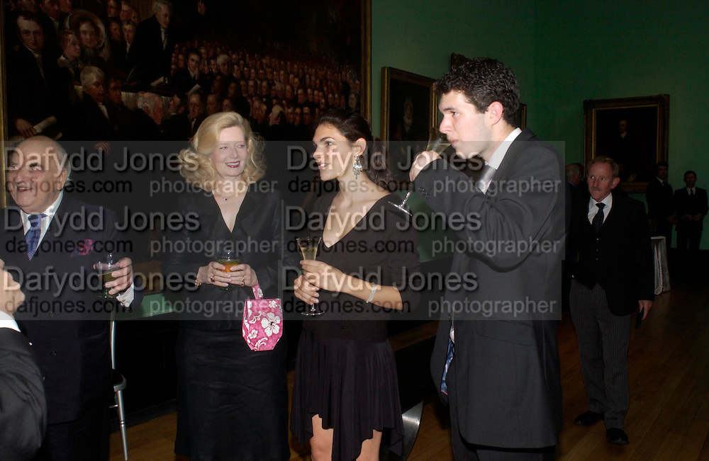 Lord and Lady Weidenfeld with their children  Clare Barnett and Nathaniel Barnett. Celebration of Lord Weidenfeld's 60 Years in Publishing hosted by Orion. the Weldon Galleries. National Portrait Gallery. London. 29 June 2005. ONE TIME USE ONLY - DO NOT ARCHIVE  © Copyright Photograph by Dafydd Jones 66 Stockwell Park Rd. London SW9 0DA Tel 020 7733 0108 www.dafjones.com