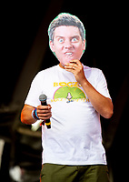 Dick and Dom at Camp Bestival 2021, dick couldent make it as he was having a baby so doms brother stepped in Lulworth Castle photo by Brian Jordan