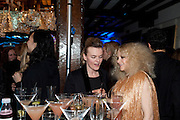 LISA GUNNING; ALISON GOLDFRAPP, party to celebrate Alexander Wang at Liberty and The Androgyny Issue of LOVE, hosted by Katie Grand, Alexander Wang, and Ed Burstell of Liberty, Liberty. Great Marlborough St. London. 21 February 2011. -DO NOT ARCHIVE-© Copyright Photograph by Dafydd Jones. 248 Clapham Rd. London SW9 0PZ. Tel 0207 820 0771. www.dafjones.com.