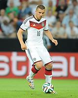Fotball<br /> Tyskland v Armenia<br /> 06.06.2014<br /> Foto: Witters/Digitalsport<br /> NORWAY ONLY<br /> <br /> Lukas Podolski (Deutschland)<br /> Fussball, Testspiel, Deutschland - Armenien 6:1