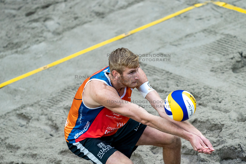 Jasper Bouter during the first day of the beach volleyball event King of the Court at Jaarbeursplein on September 9, 2020 in Utrecht.