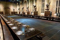 © Licensed to London News Pictures 27/02/2011 London, UK. .Hogwarts Castle Great Hall inside The Warner Brothers Studio Tour, Leavesden, Herts where all 8 Harry Potter movies were made and opens to the public this week..Photo credit : Simon Jacobs/LNP