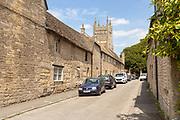 New Street 15th century planned medieval rural settlement Mells, Somerset, England, UK