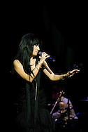 Acclaimed fado singer Ana Moura, performing live at the Barbican, La Linea Festival, London, UK (20 April 2013) © Rudolf Abraham
