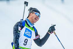 Kosuke Ozaki of Japan during Slovenian National Cup in Biathlon, on December 30, 2017 in Rudno polje, Pokljuka, Slovenia. Photo by Ziga Zupan / Sportida