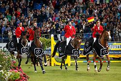 Becker, Otto (GER);<br /> Rantzau, Breido Graf zu (Präsident FN);<br /> Ehning, Marcus (GER);<br /> Weishaupt, Philipp (GER);<br /> Tebbel, Maurice (GER);<br /> Kutscher, Marco (GER) <br /> Aachen - CHIO 2017<br /> © www.sportfotos-lafrentz.de/Stefan Lafrentz