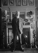 George Bernard Shaw, Irish Author and Playwright, Standing in front of the fireplace, 1923